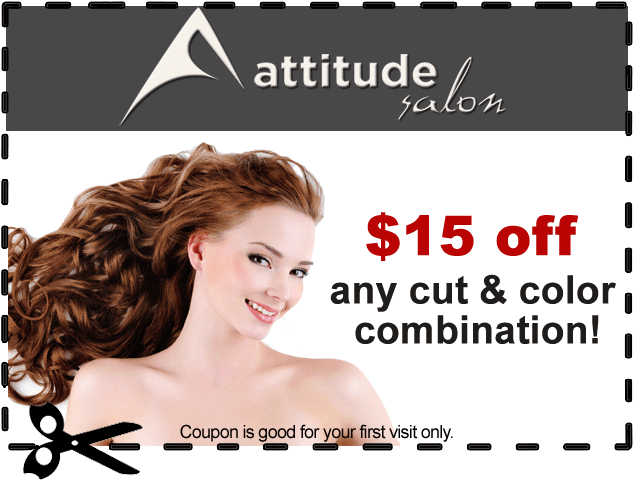 Attitude Salon $15 Off Coupon