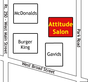 Attitude Salon Map